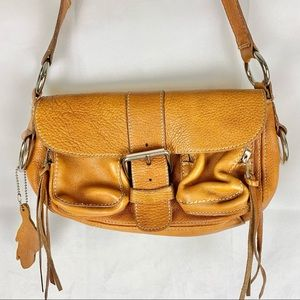 ROOTS Emily Bag Leather Cognac Small